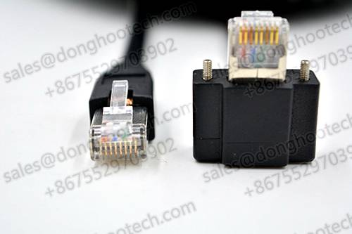 Rj45 Right Angle With Recessed Thumbscrews Horizontal Data